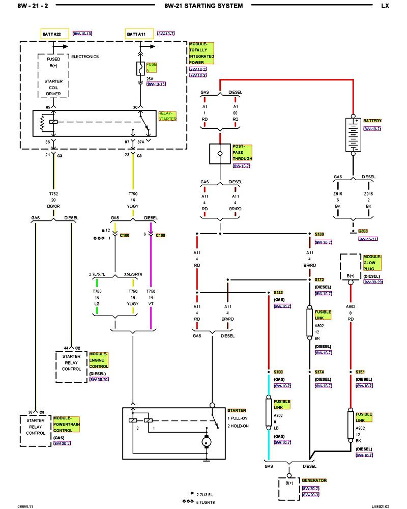 2008 Dodge Charger V6 3 5l Starter System Wiring Diagram 56 Avenger Online Relay For Jake The At